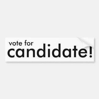 vote for candidate! generic sticker bumper sticker