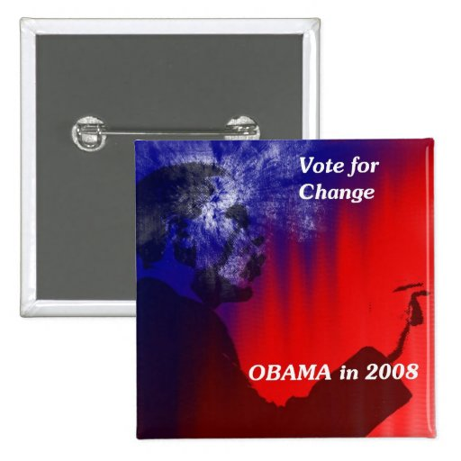 Vote For Change in 2008 Pinback Buttons