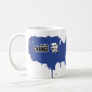 Vote for change Obama Bumper 5 copy.png Basic White Mug