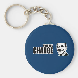 Vote for change Obama Bumper 5 copy.png Basic Round Button Key Ring