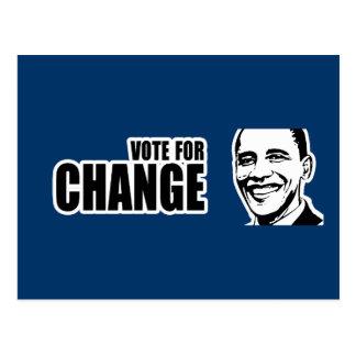 Vote for change Obama Bumper 5 copy png Post Card