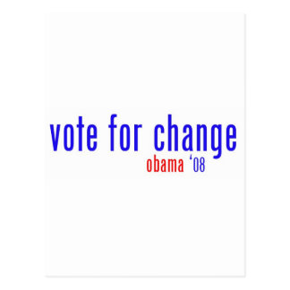 vote for change postcard