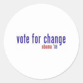 vote for change classic round sticker