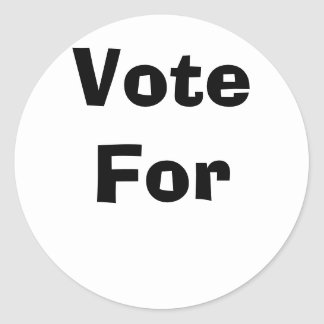 Vote For Classic Round Sticker