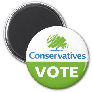 Vote for Conservatives 6 Cm Round Magnet