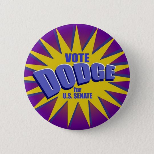 Vote For Dodge Button