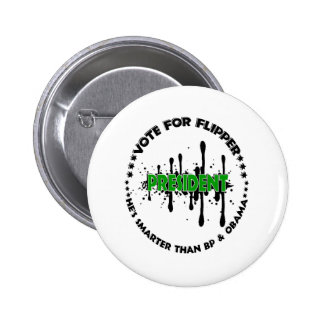 VOTE FOR FLIPPER 6 CM ROUND BADGE