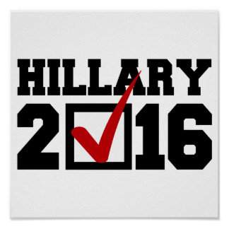 VOTE FOR HILLARY 2016 png Posters