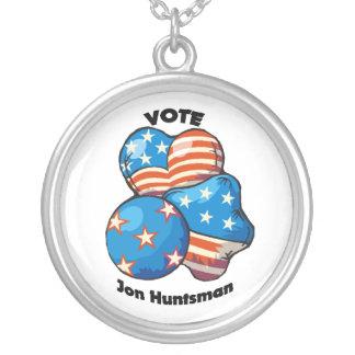 Vote for Jon Huntsman Round Pendant Necklace
