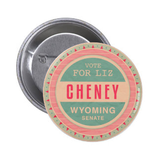Vote For Liz Cheney 6 Cm Round Badge