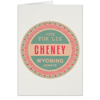 Vote For Liz Cheney Greeting Card