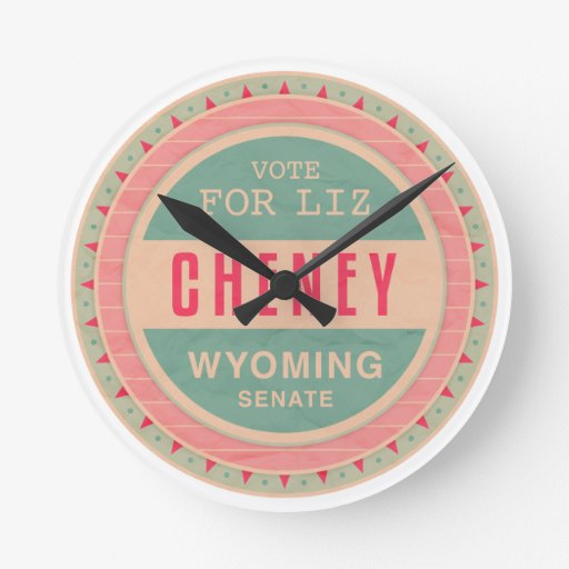 Vote For Liz Cheney Wallclock
