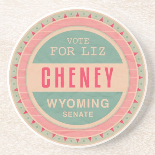 Vote For Liz Cheney Beverage Coaster