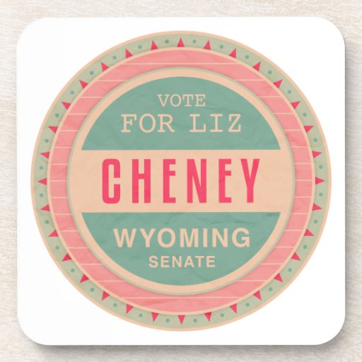 Vote For Liz Cheney Drink Coasters