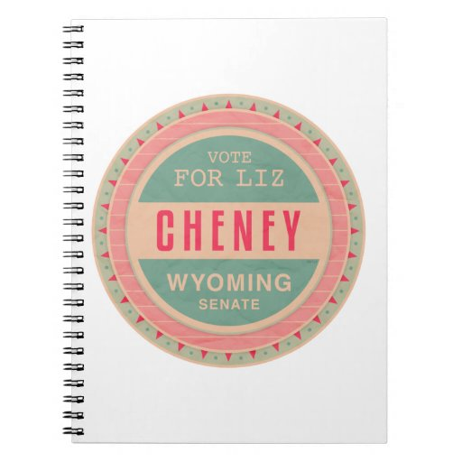 Vote For Liz Cheney Spiral Notebooks