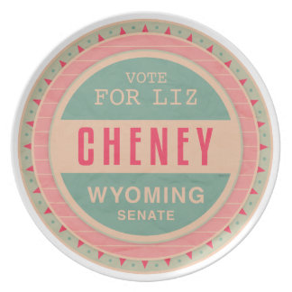 Vote For Liz Cheney Party Plates