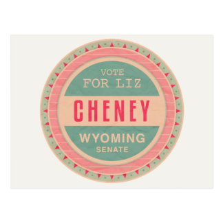 Vote For Liz Cheney Postcard