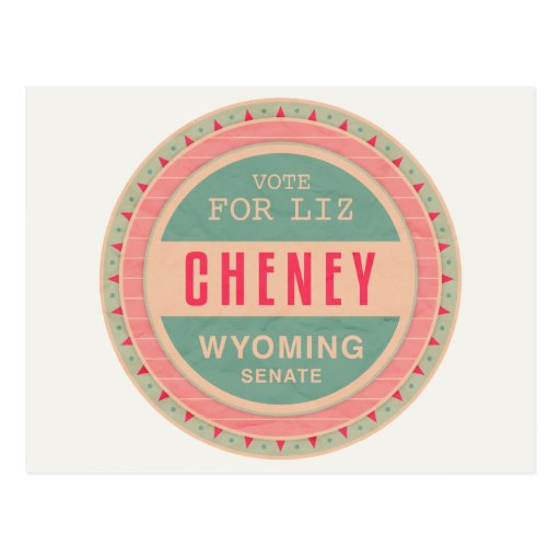 Vote For Liz Cheney Post Card
