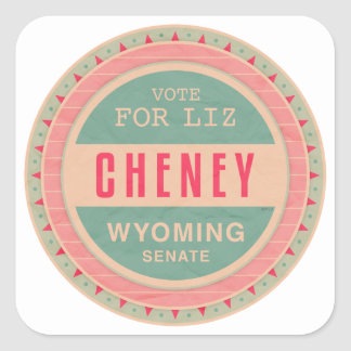 Vote For Liz Cheney Square Sticker