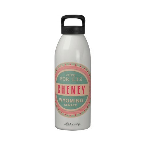 Vote For Liz Cheney Water Bottle