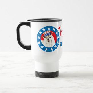 Vote for Maltese Stainless Steel Travel Mug