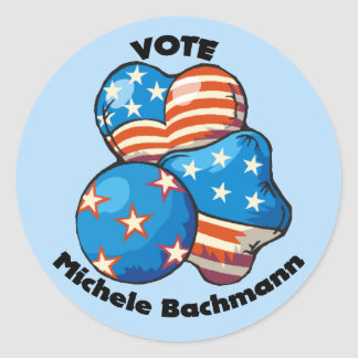 Vote for Michele Bachmann Round Sticker
