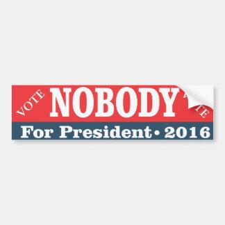 Vote for Nobody for President Bumper Sticker