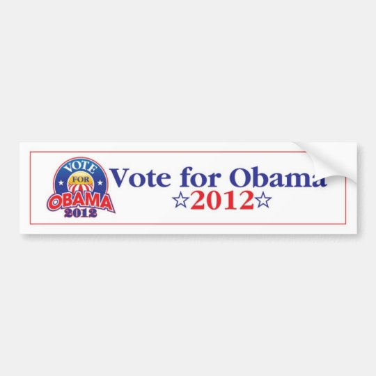 Vote for Obama 2012 Bumper Sticker