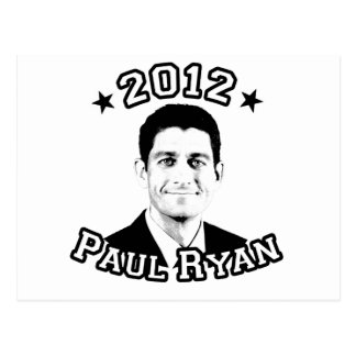 VOTE FOR PAUL RYAN 2012 POST CARD