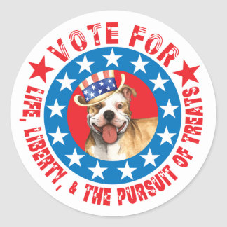 Vote for Pit Bull Round Sticker