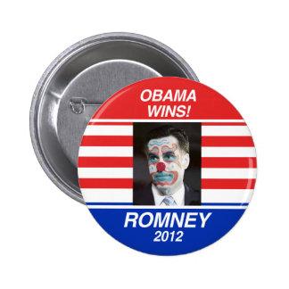 Vote for Romney 6 Cm Round Badge