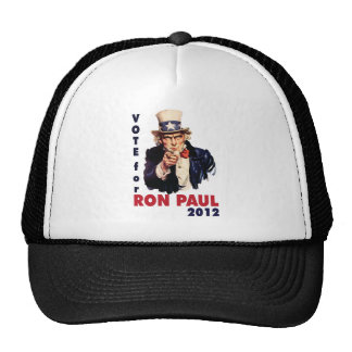 Vote for Ron Paul 2012 png Hats