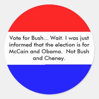 Vote for... round sticker