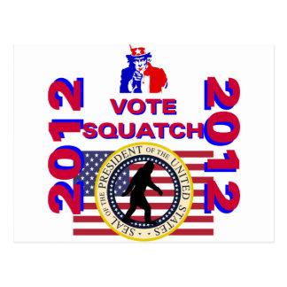 Vote for Squatch 2010 Postcard