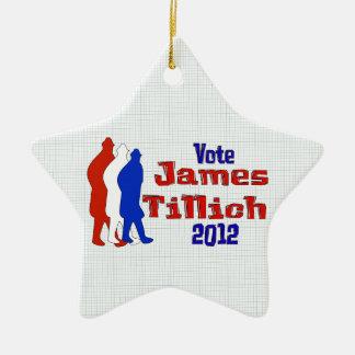Vote For Tillich Ceramic Star Decoration