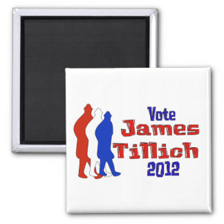 Vote For Tillich Square Magnet
