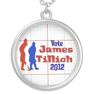 Vote For Tillich Round Pendant Necklace