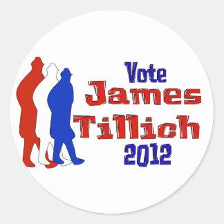 Vote For Tillich Round Stickers