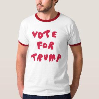 VOTE FOR TRUMP - Red + White Ringer Shirt