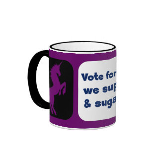 Vote for unicorns and get smiles and sugar sprinkl coffee mug