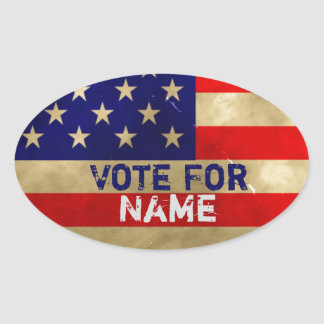 Vote For... Vintage Grunge American Flag Stickers