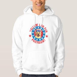 Vote for Yellow Lab Hooded Sweatshirt