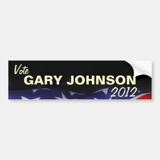 Vote GARY JOHNSON 2012 Campaign Bumper Sticker Car Bumper Sticker