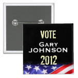 Vote Gary JOHNSON 2012 Campaign Button