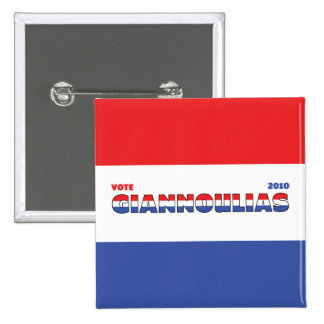 Vote Giannoulias 2010 Elections Red White and Blue 15 Cm Square Badge