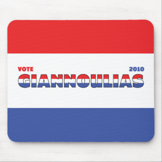 Vote Giannoulias 2010 Elections Red White and Blue Mouse Pad