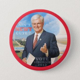 Vote Gingrich 2012 7.5 Cm Round Badge