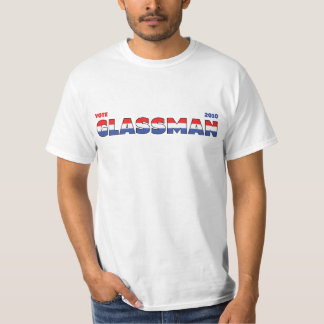 Vote Glassman 2010 Elections Red White and Blue T-Shirt