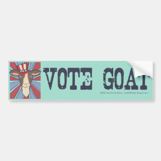 Vote Goat! Bumper Sticker