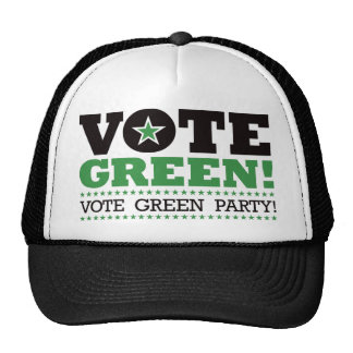 Vote Green! Vote Green Party! Cap